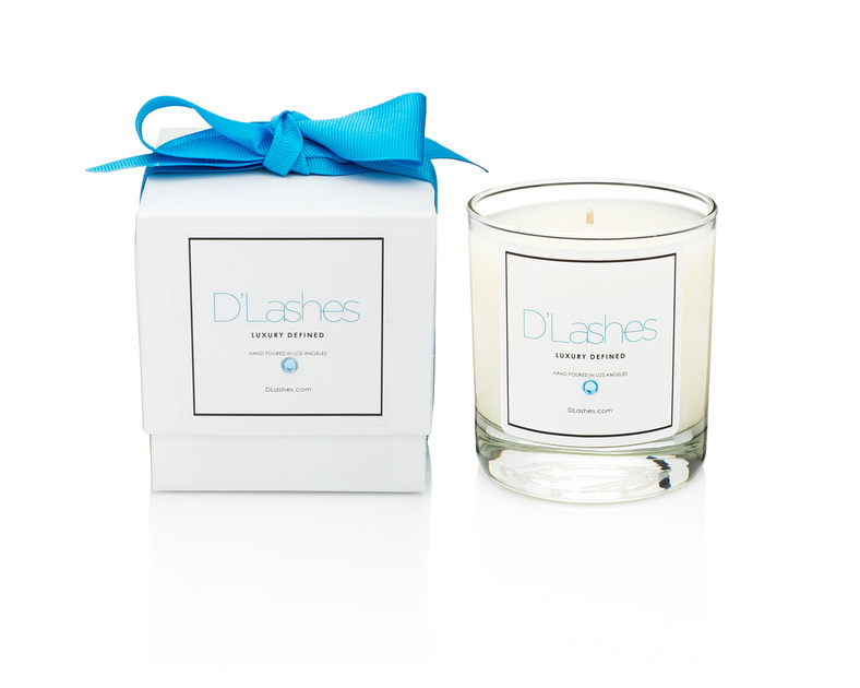 D'Lashes White Tea Candle